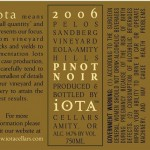 Iota 2006 Back Label
