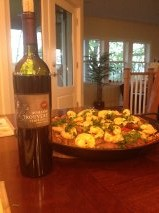 Locally made Domaine Trouvere 2008 Tempranillo and  homemade paella!  Why ever leave here?